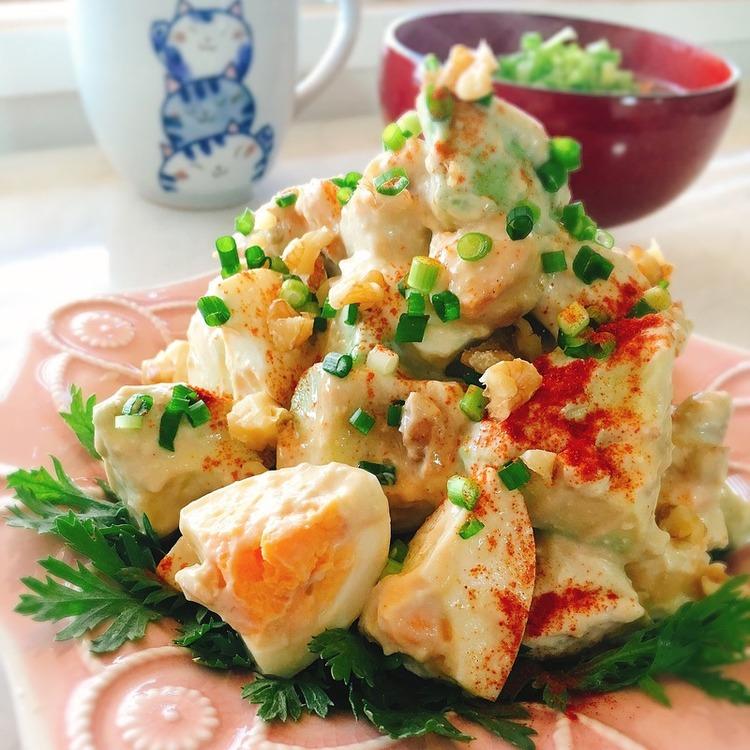 蒸し鶏とアボカドの胡桃サラダ by:Misuzuさん
