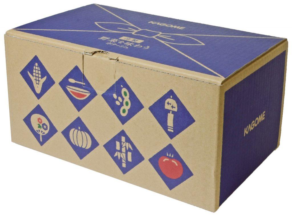 カゴメの通販「冷製 野菜を味わうポタージュセット」の箱