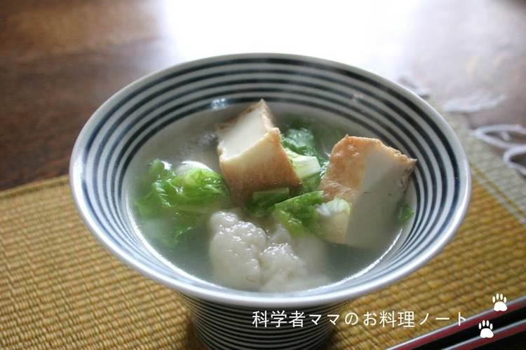 白菜と厚揚げのすいとん by:nickyさん