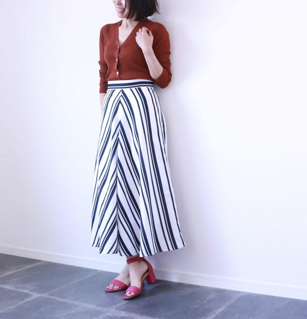 プチプラアイテムで楽しむ「ストライプ」スカート
