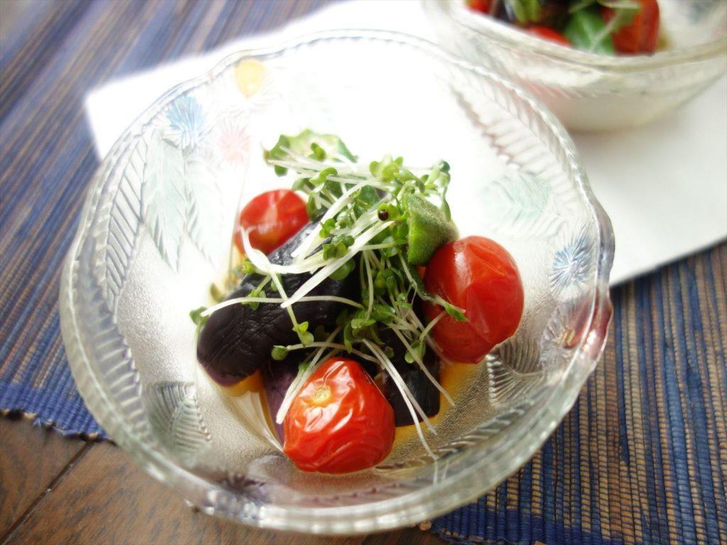電子レンジで5分!めんつゆで簡単「夏野菜の和風煮びたし」 by:柳沢 紀子さん