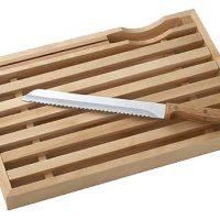 パンくずがこぼれず使いやすい!お手入れ楽ちん「パン切りボード&ナイフ」
