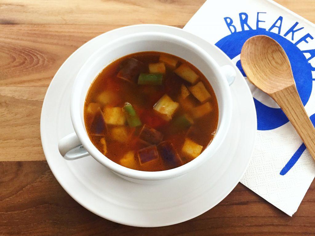 ワンボウルで栄養たっぷり♪火を使わず簡単「夏野菜のサワースープ」 by:ヤミー(清水美紀)さん