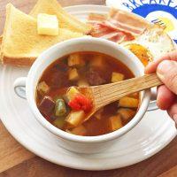 ワンボウルで栄養たっぷり♪火を使わず簡単「夏野菜のサワースープ」