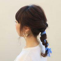 くるりんぱをアレンジ!夏に似合う「バックシャン」まとめ髪の作り方
