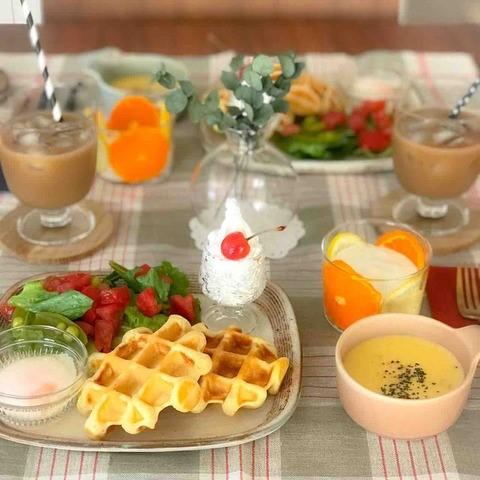 ホットケーキミックスなら簡単!「ワッフル」で朝カフェごはん