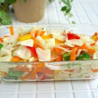忙しい朝にお役立ち!レンジで簡単作り置き「温野菜サラダ」