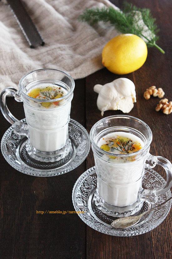 花粉症に!混ぜるだけ、塩味のヨーグルトスープ「タラトル」