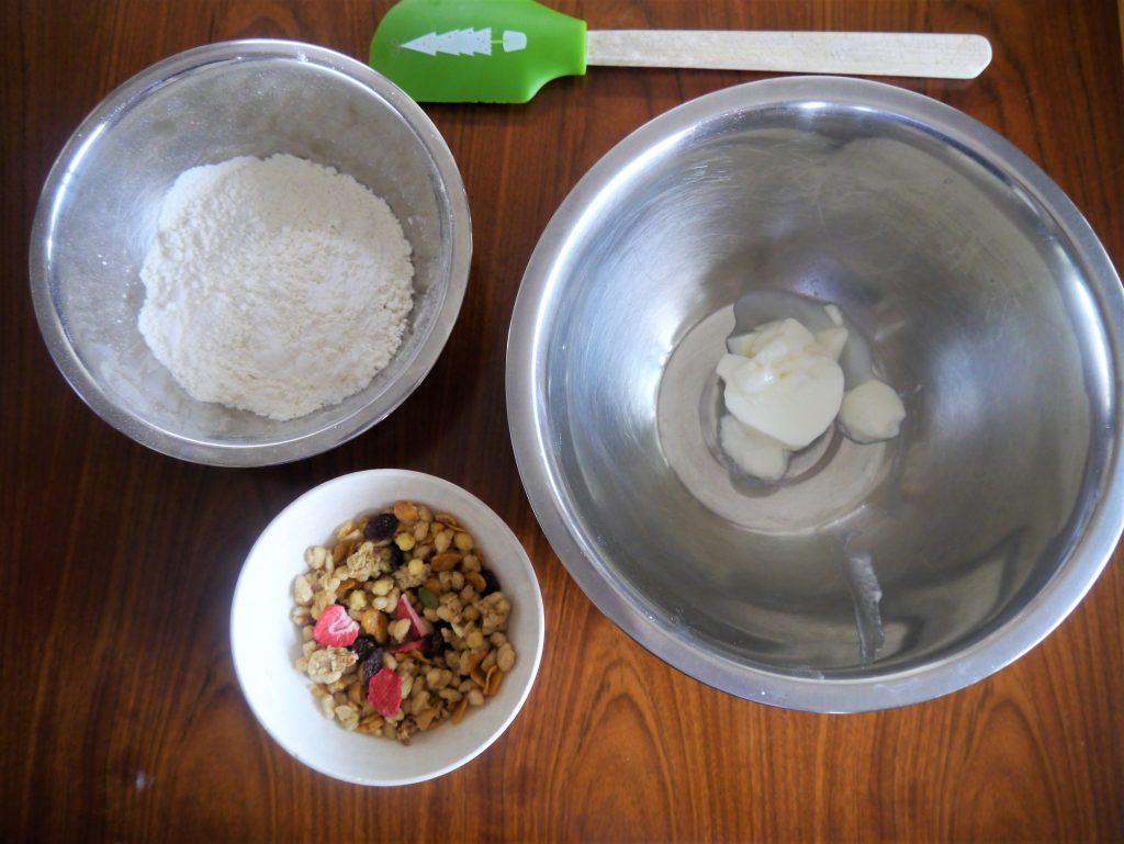 グラノーラパンの材料