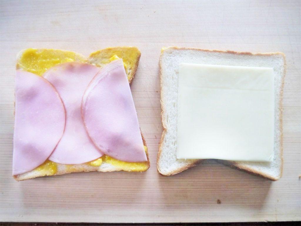 食パン、ハム、チーズ