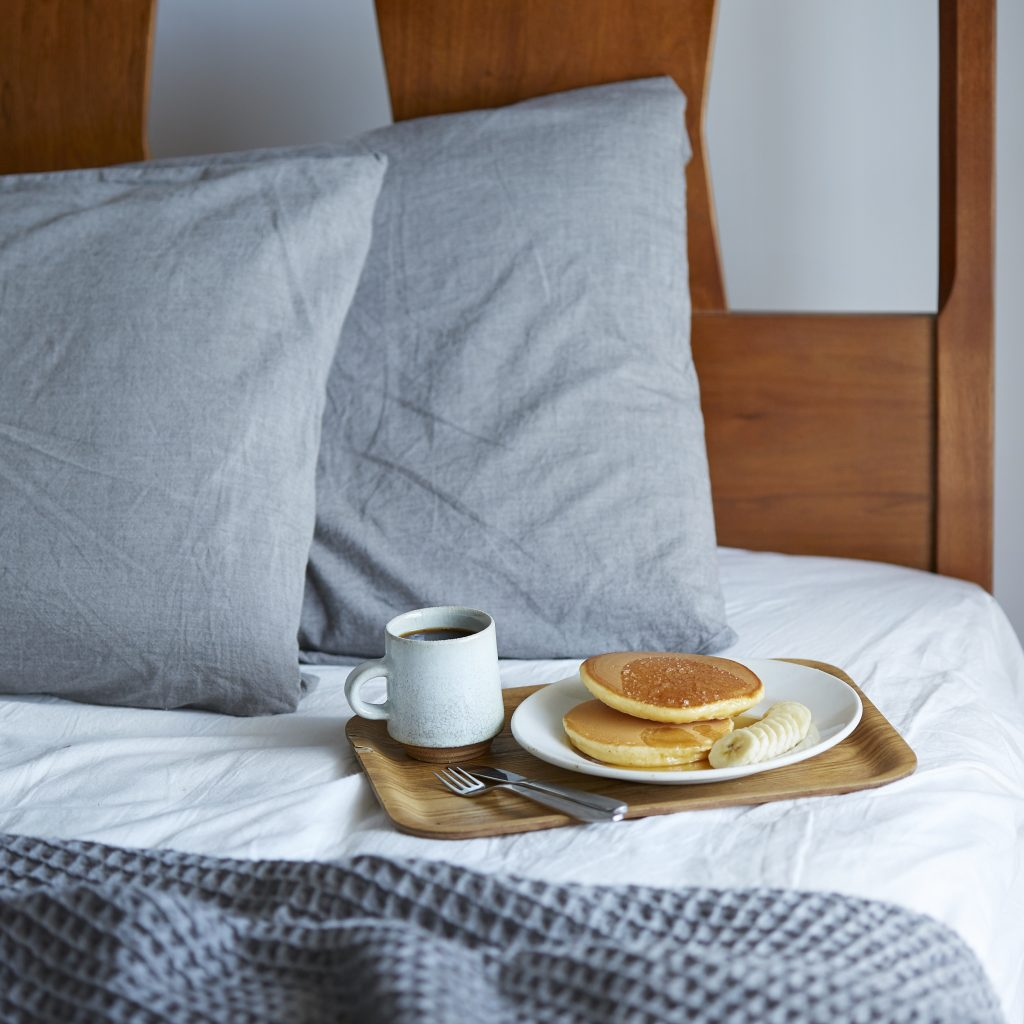 コーヒー、パンケーキ、理想のブランチ