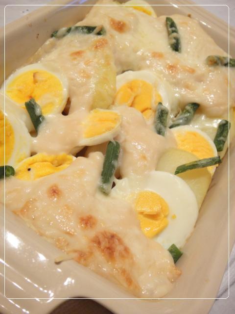 ポテトとゆで卵のグラタン by:やすへちゃんさん