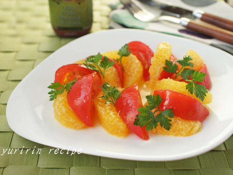 塩トマトと夏みかんのサラダby:ゆりりんさん