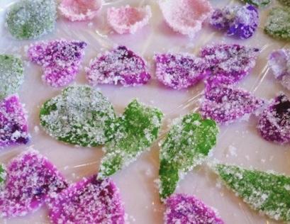 ハーブの砂糖菓子