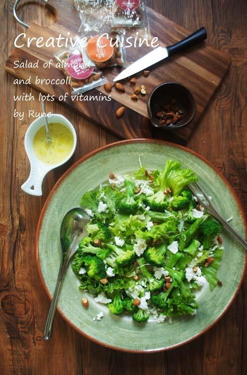 パリパリ野菜と香ばしいアーモンドのグリーンサラダ by:Runeさん
