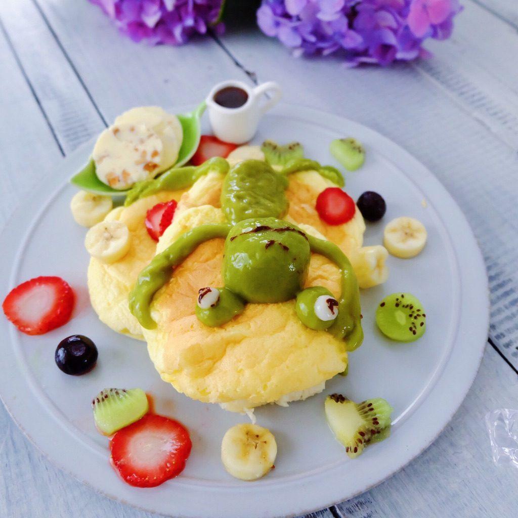 カエルのパンケーキ