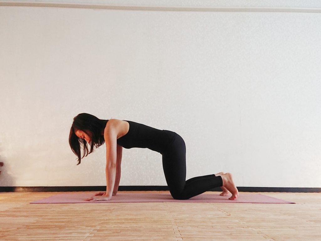 体幹と二の腕を同時に引き締め!ヨガの「板のポーズ」