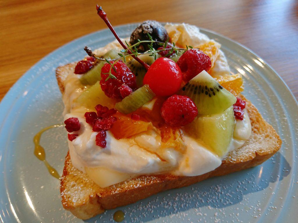 Cafe Orangerie(カフェオランジュリー)フルーツトースト