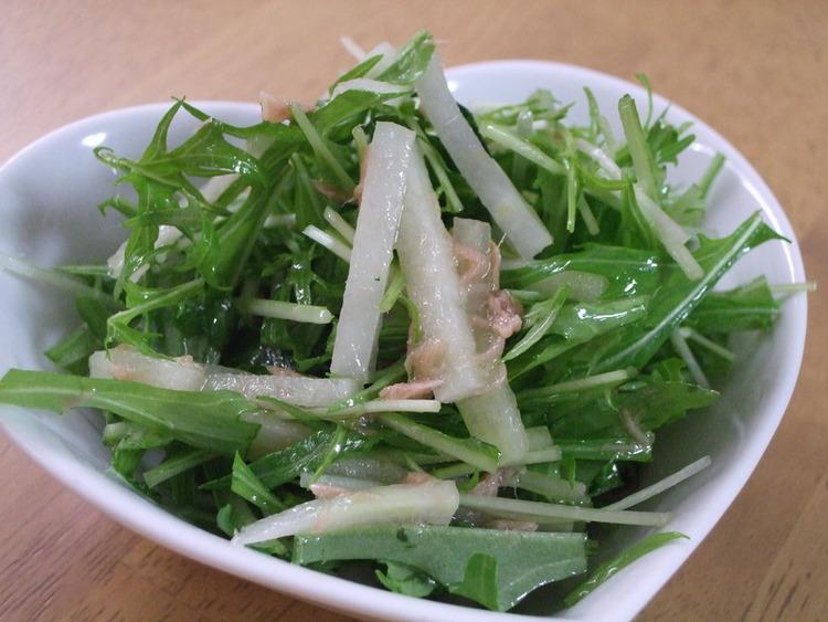 冷やしてさっぱり☆大根と水菜のツナサラダ by:kaana57さん