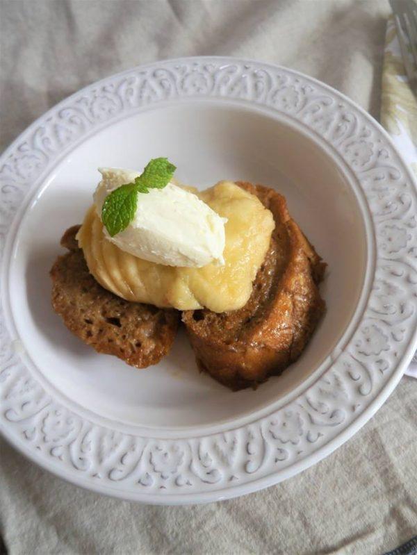 冷たくても美味しい!「桃とアールグレイのフレンチトースト」