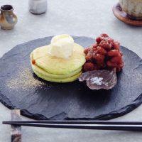 空間とうつわ、○○粉がポイント♪「日本風」パンケーキの楽しみ方
