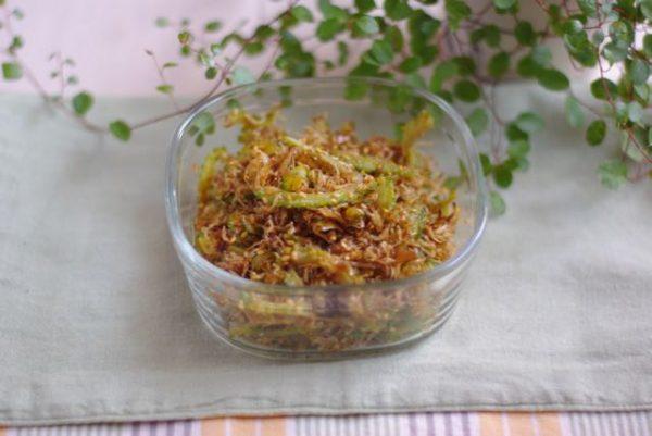 白いご飯に!おかか風味の簡単作り置き「ゴーヤとじゃこのふりかけ」 by:Mayu*さん