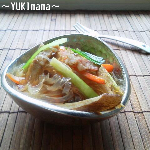 お弁当に~豚バラスライスでチャプチェ風~ by:YUKImamaさん