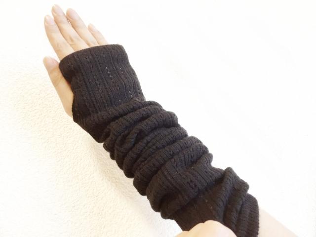 濃い色のUVカット手袋