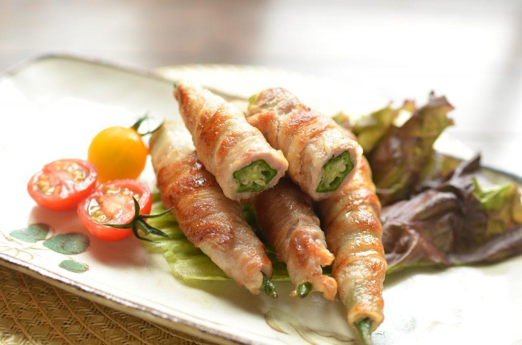 ワサビと塩味でさっぱり!簡単夏おかず「オクラの肉巻き」 by:柳沢 紀子さん