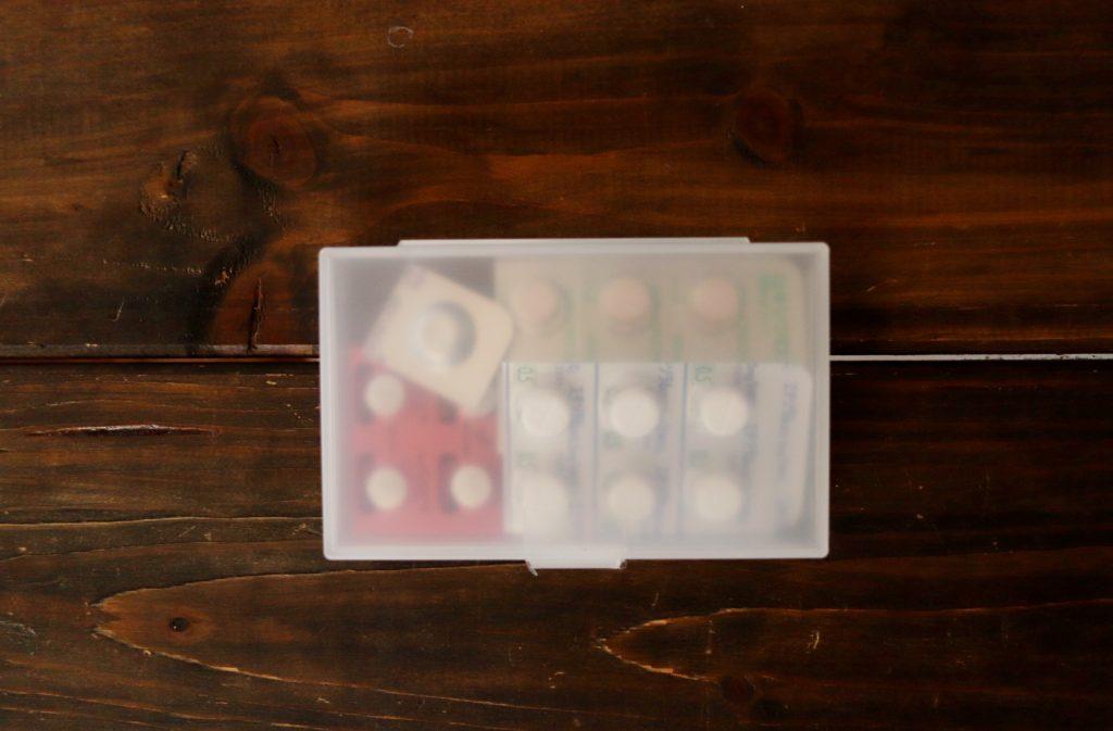 セリアのカードケース×薬