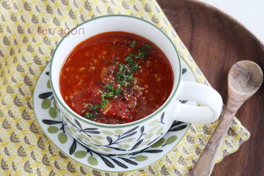 そろそろ紫外線対策!10分でできる「トマトとひき肉のボリュームスープ」 by:タラゴン(奥津純子)さん