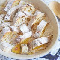残ったパンがおいしく生まれ変わる!簡単「バナナパンプディング」
