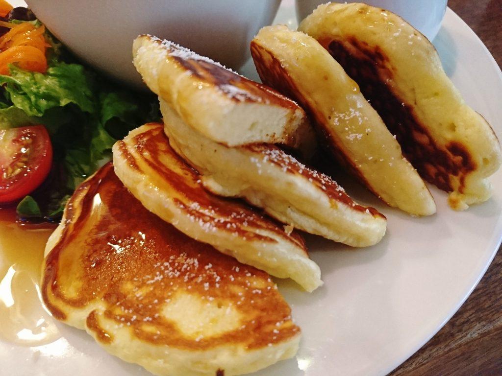 京都「Fukumimi」のモーニングパンケーキ