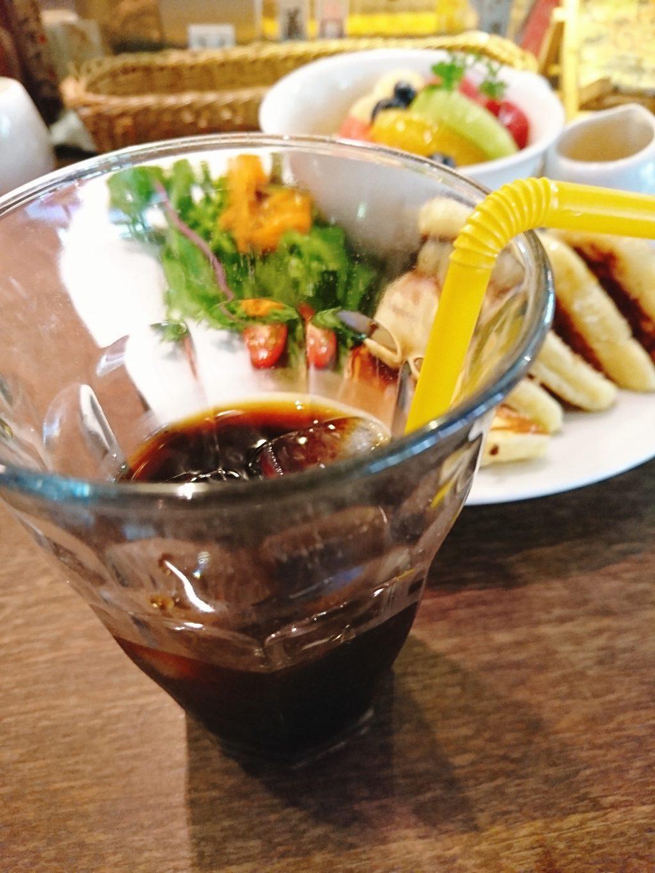 京都「Fukumimi」のアイスコーヒー