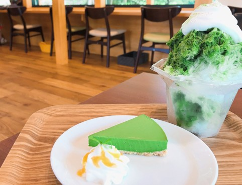 絶品のお茶が楽しめる「KIMIKURA CAFE」@静岡・掛川の抹茶レアチーズケーキとかき氷