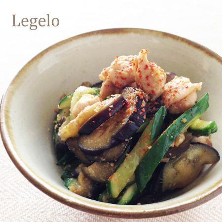 鶏肉と茄子きゅうりのショウガ醤油ごま和え☆超簡単♪夏のおかず by:Legeloさん