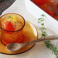 レンジで簡単♪夏にひんやり食べる「キラキラトマトジュレスープ」