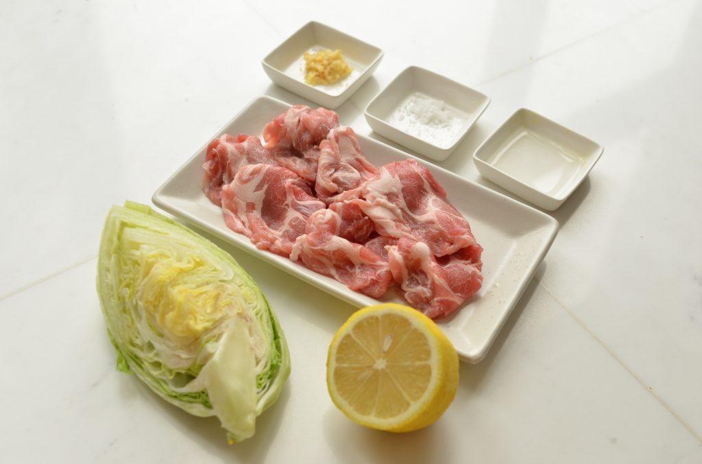 夏バテにもダイエットにも◎レモンとしょうがで簡単「レンジ豚」 材料