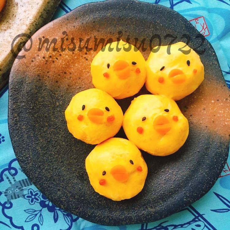 低糖質なクリチ団子☆南瓜チーズのひよこ団子 by:Misuzuさん