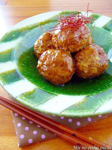 うずら肉団子のピリピリ七味あん♪ by:みぃさん
