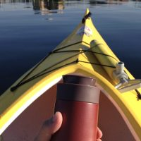 朝のカヤックで湖を独り占め