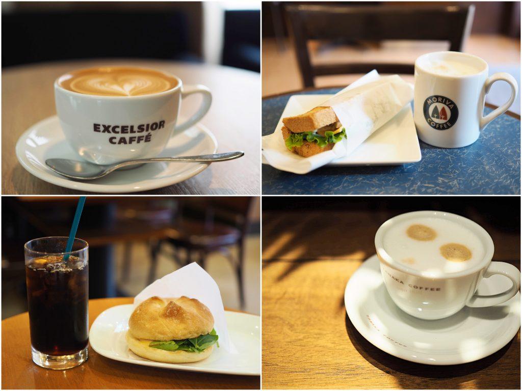 カフェで過ごす朝時間