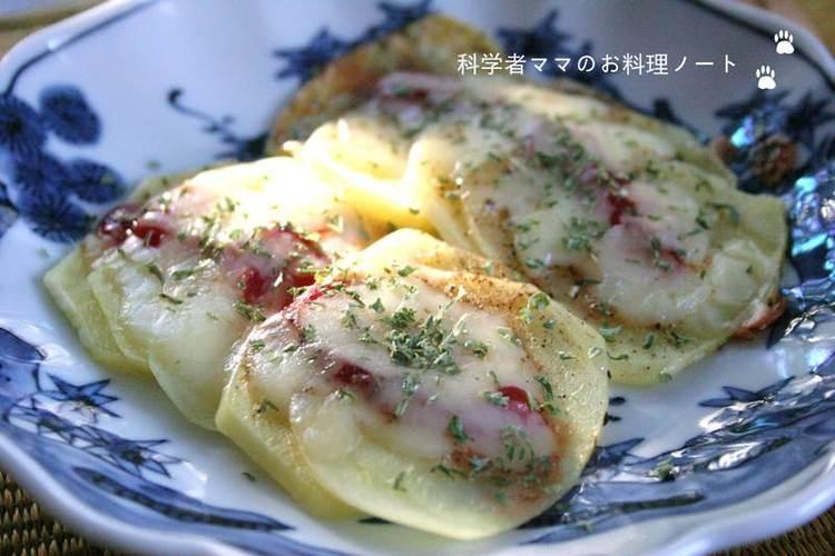 スピード朝ごはん~ジャガイモのピザ風 by:nickyさん