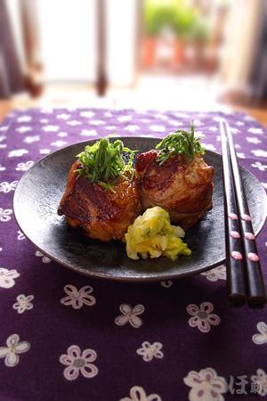 肉巻き醤油だけ焼きおにぎり by:ほ助さん
