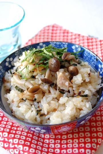 鶏とシメジのマヨ入り炊き込みごはん by:エリオットゆかりさん
