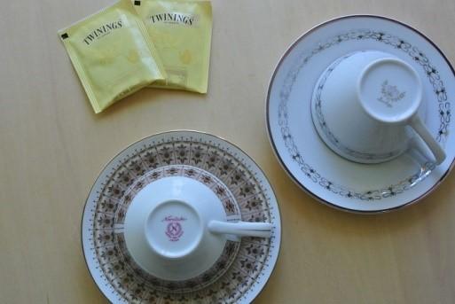 私のお気に入りの朝のお茶のカップ