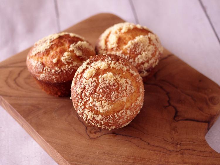 ホットケーキミックスで簡単3ステップ☆ふわふわ感動、朝食チーズマフィン♪ by:めろんぱんママさん