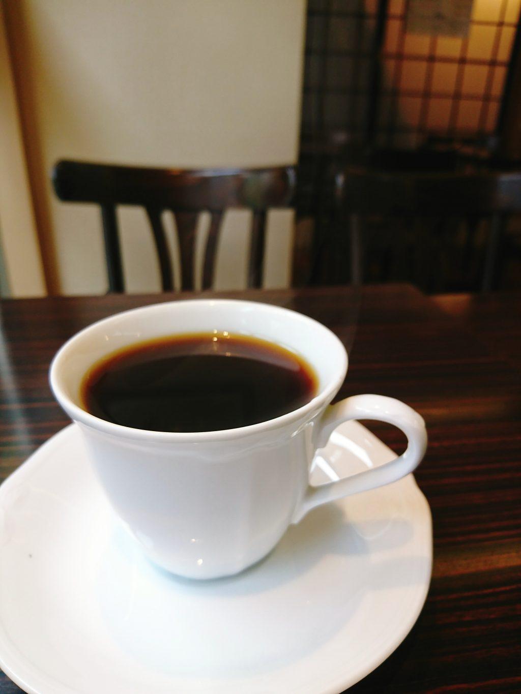 Cafeひなみの食後のコーヒー