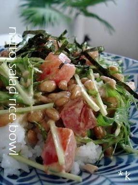 納豆サラダご飯by:kayさん