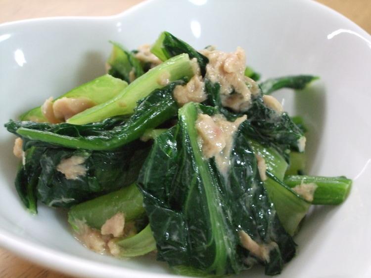 簡単☆小松菜のツナマヨだし醤油♪お弁当に by:kaana57さん